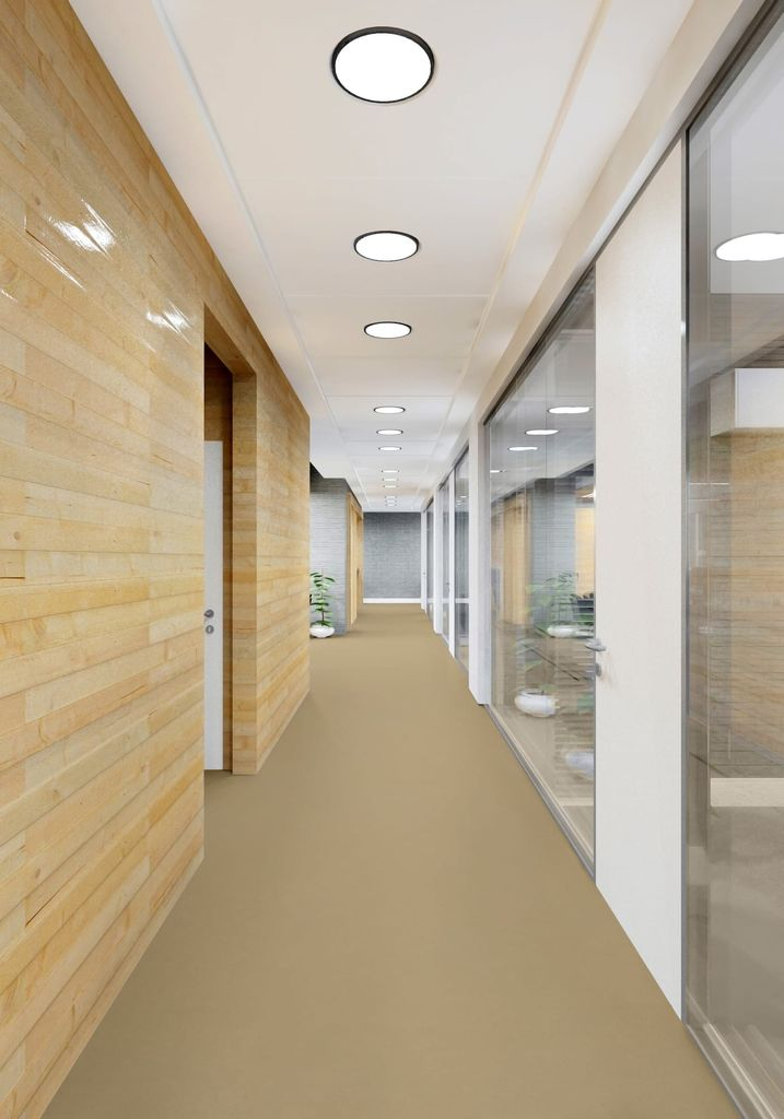 Linoleum Fußboden in Büroräumen