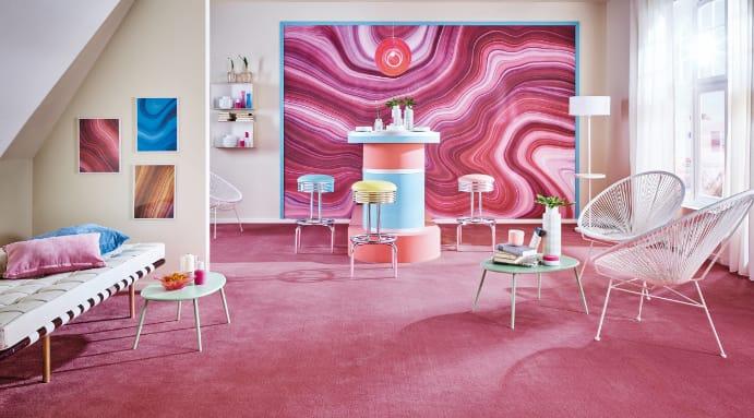 pinker Teppich